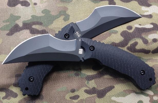Боевой нож в стиле керамбит CQC-01 Razorback с отделом НЗ