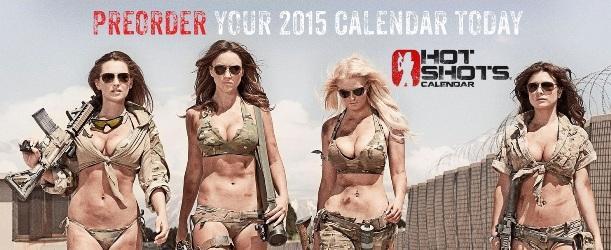 Что поднимает боевой дух армии США: Hot Shots Calendar 2015