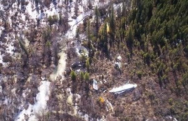 Место авиакатастрофы с воздуха