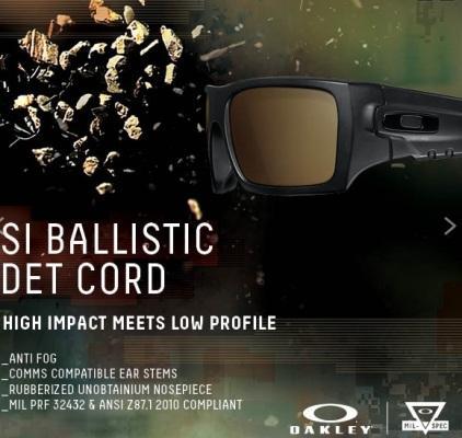 Тактические баллистические очки Oakley SI Ballistic Det Cord