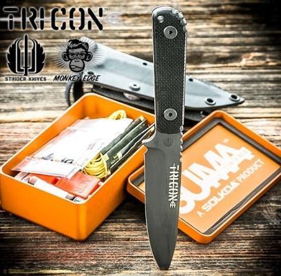 Боевой нож для выживания с фиксированным лезвием Tricon