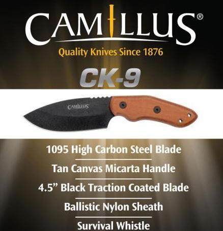 Нож с фиксированным лезвием Camillus CK-9 для выживания