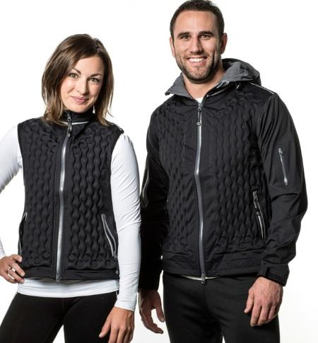 Надувная куртка с регулируемой воздушной изоляцией NuDown