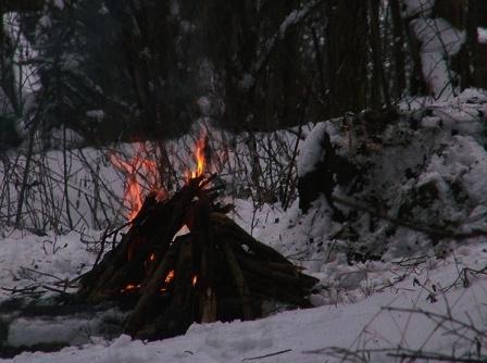 Зимняя ночевка по таежному