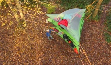 Подвесная палатка вид сверху