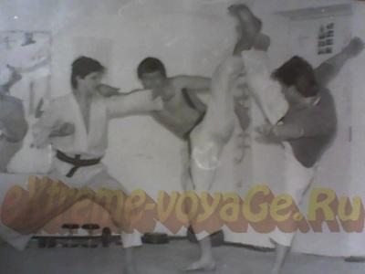 Из личного архива автора. Советское каратэ. В своей секции, 1989 год.
