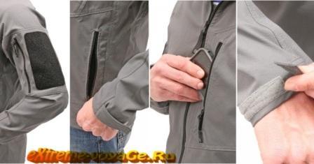 Карманы и манжеты в Softshell куртке Rig Light Jacket