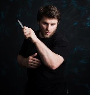 Складной боевой нож для самозащиты ECS «Истребитель»