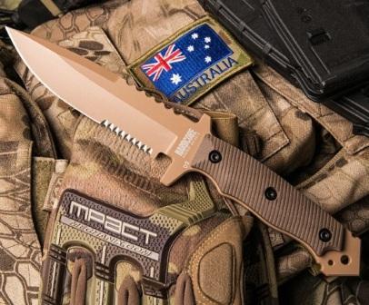 Австралийский нож с серрейтором для выживания MFK04-GEN II