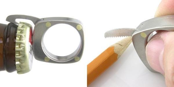 Варианты использования мини мультитула Titanium Utility Ring