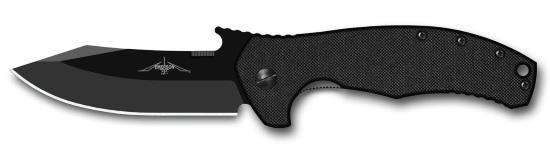 Нож ECS Knives Fighter в черном исполнении