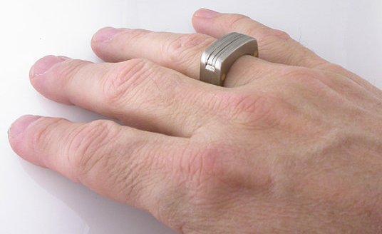 Мужское кольцо - мультитул на пальце руки
