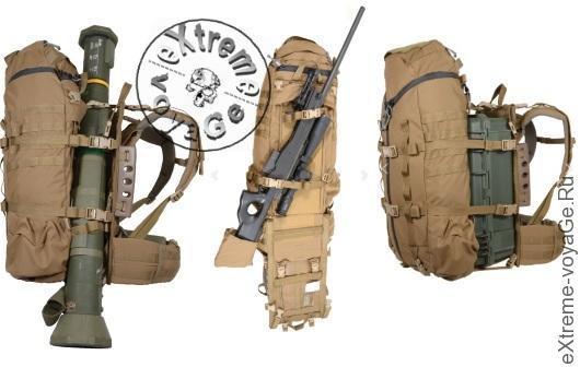 Экспедиционный рюкзак Overload вмещает даже миномет