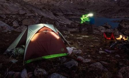 Легкая горная палатка Ripple Creek UL2 с освещением