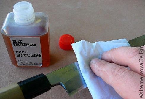 Спедства очистки ножа