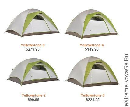Новая серия палаток для туризма Yellowstone от Kelty
