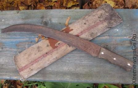 Нож, подвергшийся воздействию коррозии
