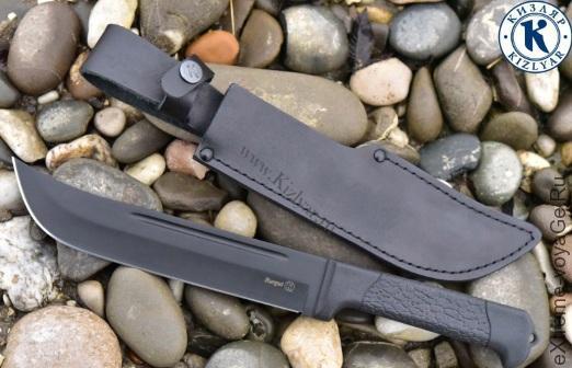 Большой нож Кизляр Беркут с кожаной оболочкой