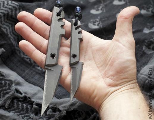 Боевой титановый мини нож Amsler Mini Slik Pikal