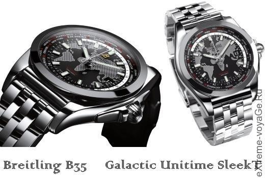 Прочные часы туриста с автоподзаводом Breitling B35