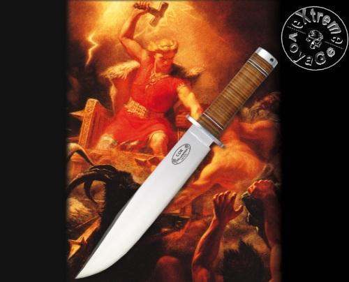 Мощный шведский нож викинга FallKniven NL1 Thor