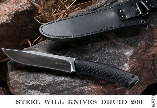 Мощный нож из подшипниковой стали Druid 200
