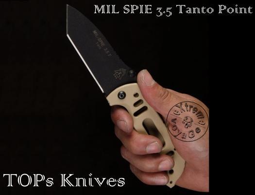 Складной нож спецназа TOPs Knives Mil-SPIE Tanto