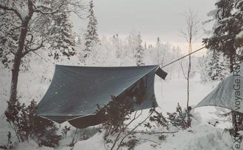 Тент делает гамак Amok Draumr 2,0 одноместной палаткой