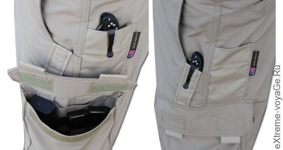 Карманы на шортах Kitanica Range Shorts