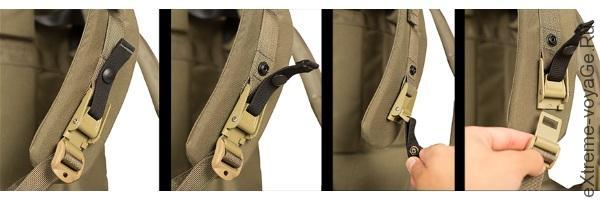 Боковые пряжки на туристическом рюкзаке Field Ruck