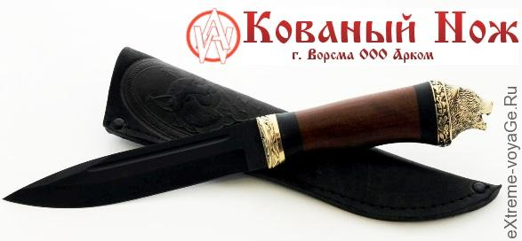 Нож Комбат с мельхиором - Кованый Нож, Ворскла