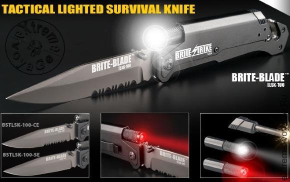 Складной нож-мультитул для выживания Brite Strike Blade