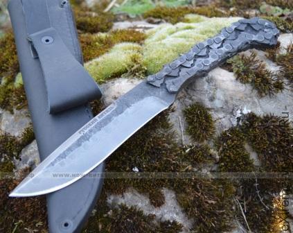Брутальный кованый нож для охоты Русский Витязь Цепной