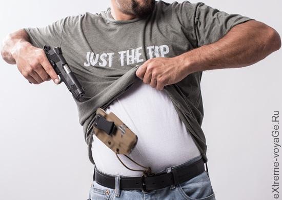 Кобура для скрытого ношения пистолета SSV In-The-Belt