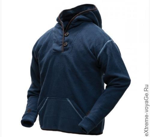 Спортивная толстовка Mountain Shawl Collar Hoodie в синем цвете