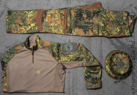 Striker XT BDU Flecktarn состоит из брюк, рубашки и головного убора