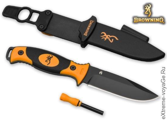 Надежный нож с огнивом для выживания Browning Ignite