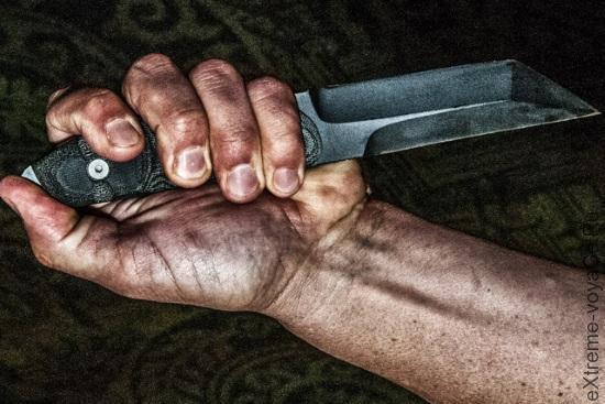 Мощный гибридный боевой нож Dawson Kalanu Fighter