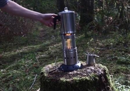 Гибридная складная походная плита-лампа FireFly Lantern