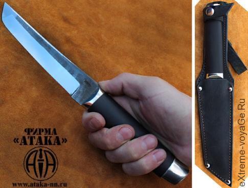 Нож АТАКА Танто с клинком длиной 17 см