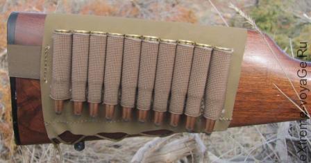 Патронташ Stock Cuff представляет собой широкую прямоугольную плотную ткань