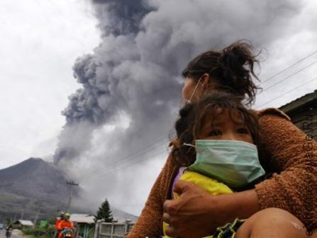 Действия при извержении вулкана