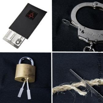 Применение карты - мультитула для выживания Hostage Escape Card