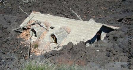 Последствия схода сели при извержении вулкана