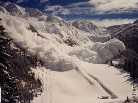 Что делать при сходе снежной лавины