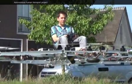 Создан пилотируемый дрон-мультикоптер Quadro UAS