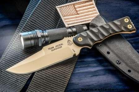 Универсальный боевой нож TOPs Team Jackal Survivor