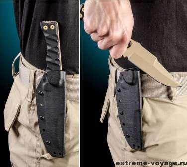 Применение тактического ножа Team Jackal Survivor