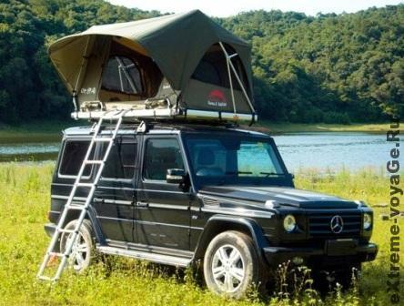 Палатка на крышу джипа с пультом ДУ Pathfinder 4x4