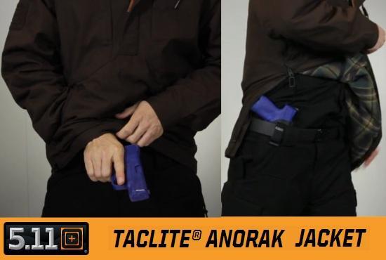 Куртка анорак для скрытого ношения оружия 5.11 Taclite